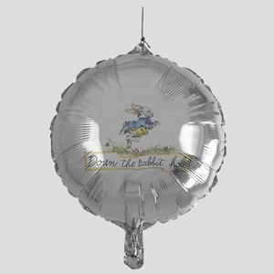 Down the Rabbit Hole Mylar Balloon