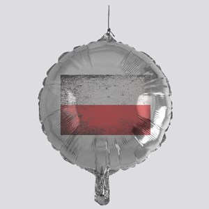 Flag of Poland Grunge Mylar Balloon