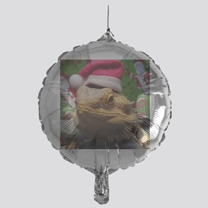 Beardie Santa Hat Mylar Balloon