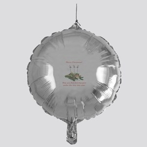 Fencing Christmas Mylar Balloon