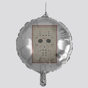 Friday the 13th Minimalist Poster Design Mylar Bal