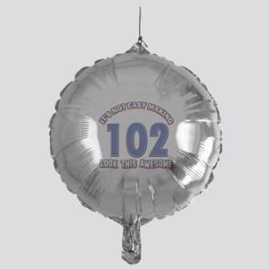 102 year old birthday designs Mylar Balloon