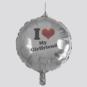 I Heart My Girlfriend Mylar Balloon