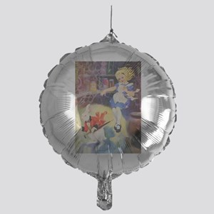 Alice Falls Down The Rabbit Hole Mylar Balloon