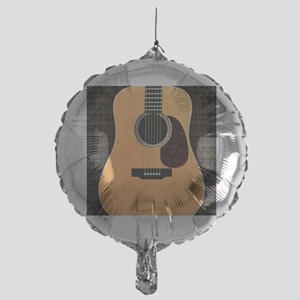 acoustic-guitar-framed panel print c Mylar Balloon