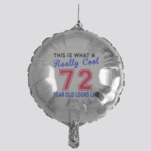 Really Cool 72 Birthday Designs Mylar Balloon