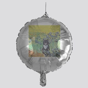 Irises & Cat Mylar Balloon