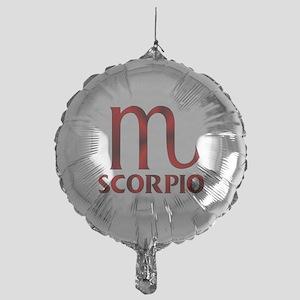 cacd4a74 Red Scorpio Symbol Mylar Balloon