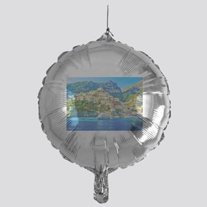 View-of-Positano-village-on-a-sunny- Mylar Balloon