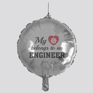 Heart Belongs Engineer Mylar Balloon