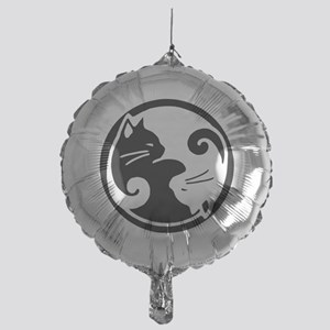 yin-yang-cat Mylar Balloon