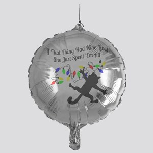 Nine-Lives-Colors Mylar Balloon