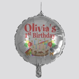 PERSONALIZED 1ST Mylar Balloon