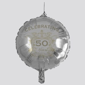 50th Wedding Anniversary Mylar Balloon