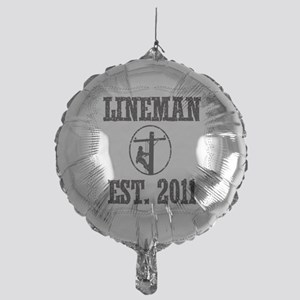 lineman born DASHED Mylar Balloon
