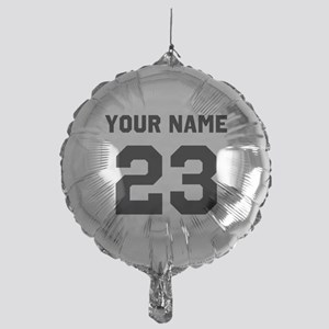 Customize sports jersey number Mylar Balloon