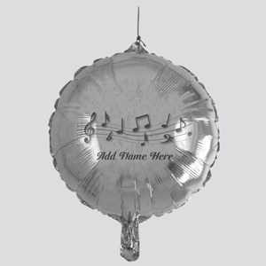 Personalized Musical Notes design Mylar Balloon