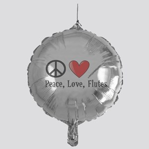 Peace, Love, Flutes Balloon
