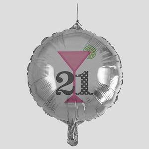 Balloons 21st Birthday Pink Cocktail Balloon