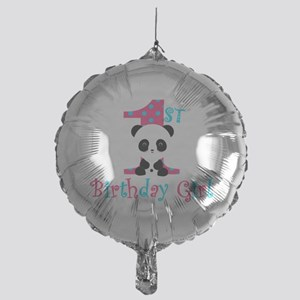 1st Birthday Girl Panda Bear Balloon