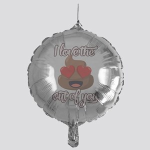 Emoji Love the Poop out of You Mylar Balloon