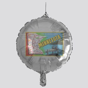Minnesota Map Greetings Mylar Balloon