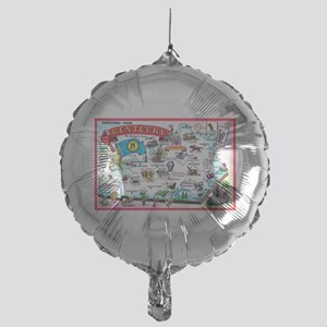 Kentucky Map Greetings Mylar Balloon