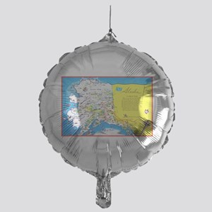 Alaska Map Greetings Mylar Balloon