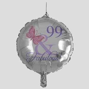 Fabulous 99th Birthday Mylar Balloon