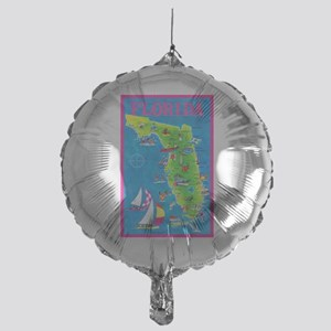 Florida Map Greetings Mylar Balloon