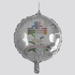 Irish American Celtic Cross Mylar Balloon