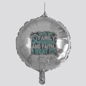 Ovarian Cancer Survivor FamilyFriend Mylar Balloon