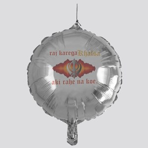Raj Karega Khalsa Power Mylar Balloon