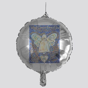 Blue & Gold Cancer Angel Mylar Balloon