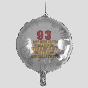 93 Birthday Designs Mylar Balloon