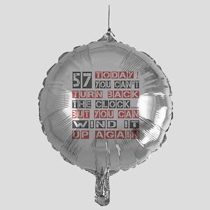 57 Turn Back Birthday Designs Mylar Balloon