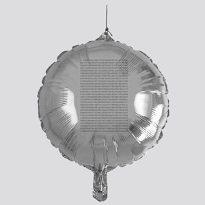 Pi to 1,000 Places Mylar Balloon