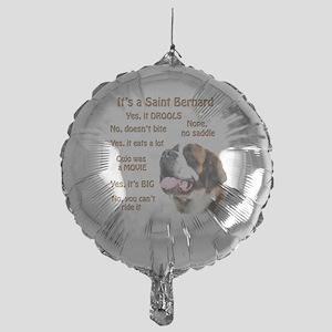 Saint Bernard FAQ Mylar Balloon