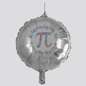Tie Dye Pi Day Tees and Gifts Mylar Balloon