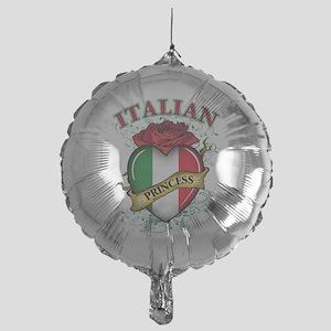 italian princess(blk) Mylar Balloon