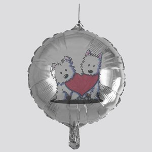 Heartfelt Westies Mylar Balloon