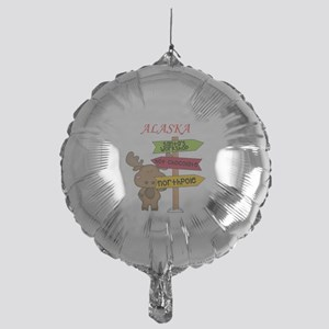 Alaska Moose What Way To The North P Mylar Balloon
