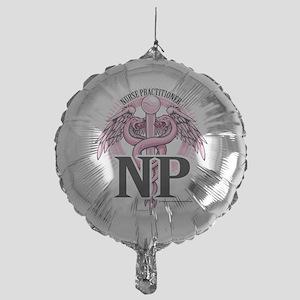 NP-PINK-Caduceus Mylar Balloon