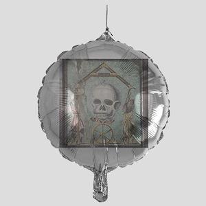 Roman memento mori mosaic Mylar Balloon