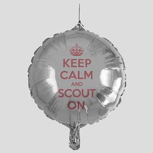 Keep Calm Scout Mylar Balloon