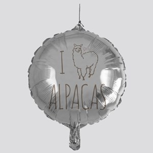I Love Alpacas Mylar Balloon