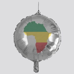 Green, Gold and Red Africa Flag Mylar Balloon