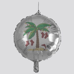 Tropical Christmas Mylar Balloon