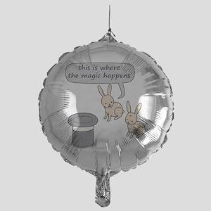 Rabbits and Magic Mylar Balloon