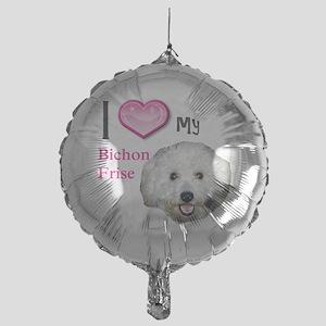 BichonFrise2 Mylar Balloon